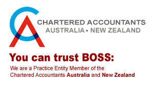 You can trust BOSS: We are a Practice Entity Member of the Institute of Chartered Accountants in Australia